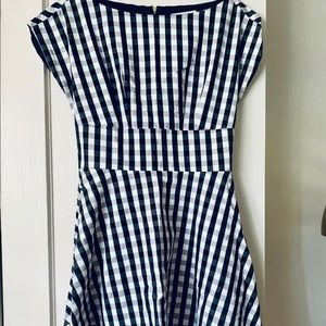 Kate Spade Fit & Flare Gingham Dress, size 4